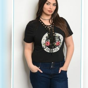 "💗HOST PICK💗💋BLACK ""ROMANTIC"" PRINT PLUS SIZE"
